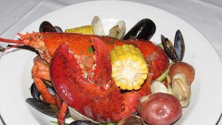 The lobster seafood bake at Chop Shop Bar