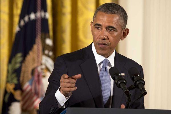 President Barack Obama speaks before signing an executive