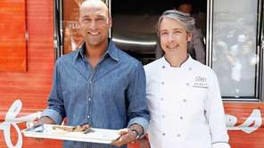 Derek Jeter and chef John Mitchell attend the