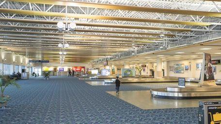 The baggage claim area of Long Island MacArthur