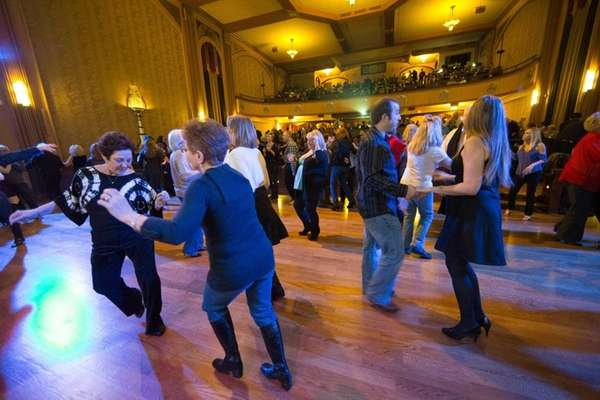 Dancers swing and shake during a Winterfest Live