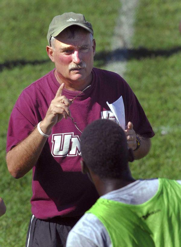 Massachusetts men's soccer coach Sam Koch, who led