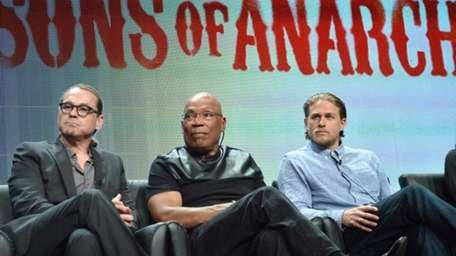 """From left, """"Sons of Anarchy"""" creator Kurt Sutter,"""