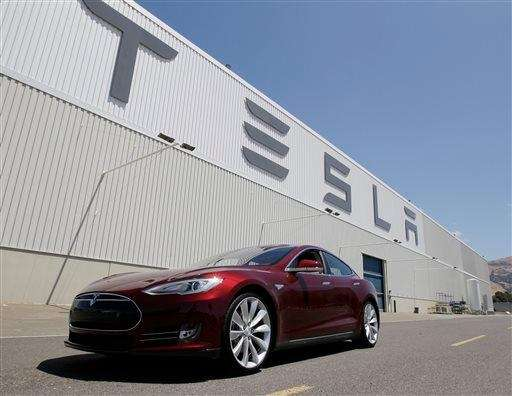 The Tesla factory in Fremont, Calif. on June