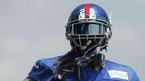 Antrel Rolle of the Giants looks on during