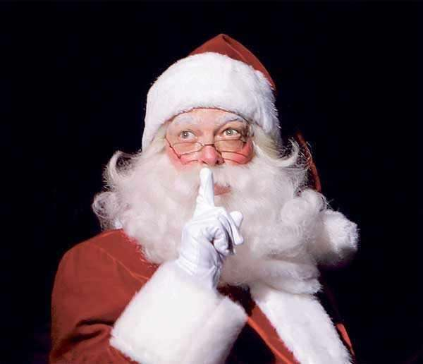 Although it?s still summer, Santa Claus (as played