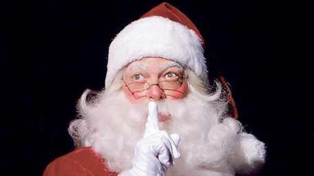 Although it's still summer, Santa Claus (as played
