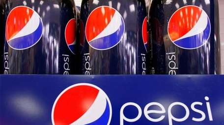 Bottles of Pepsi at a grocery store in