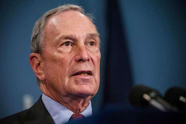 Former Mayor Michael Bloomberg flew to Israel on