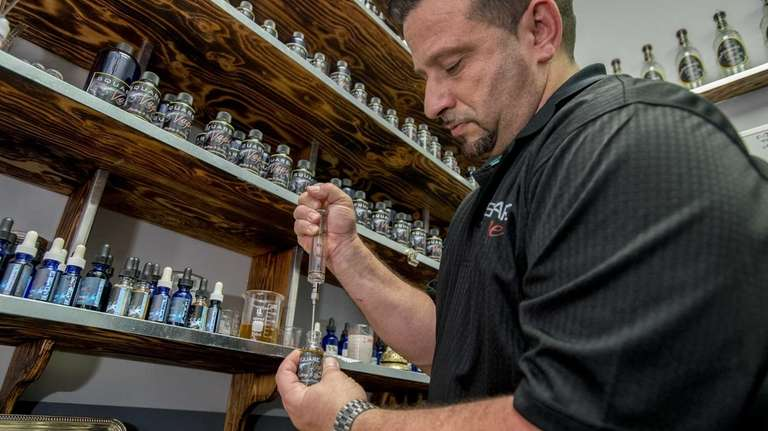 Square Vape Factory and Lounge owner Tony Napolitano