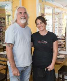 Restaurateur Tom Schaudel and his daughter Courtney Schaudel