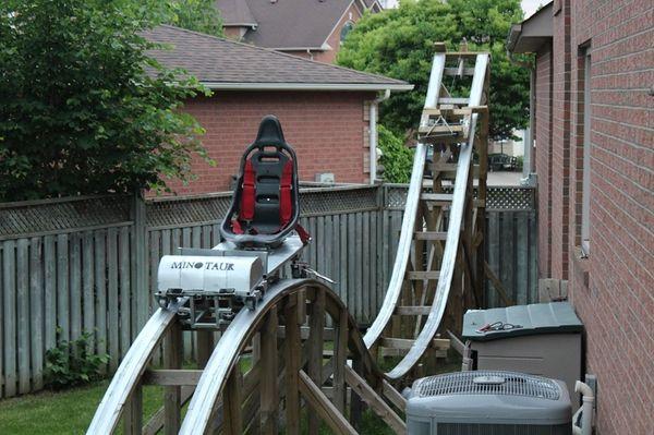 The Minotaur, a roller coaster built by David