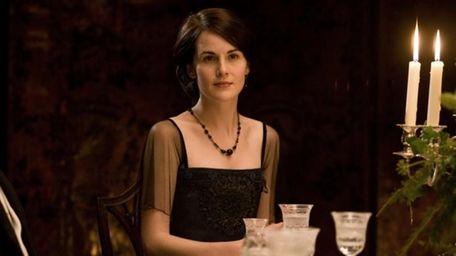 Michelle Dockery portrays Lady Mary in a scene
