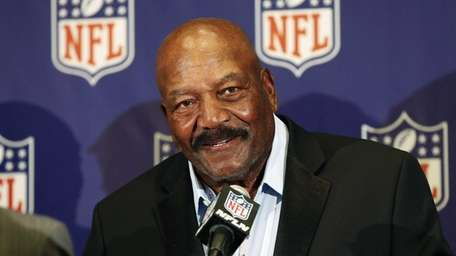 Former Cleveland Browns Hall of Famer Jim Brown