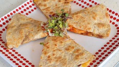 The barbecue chicken quesadilla is a hit at