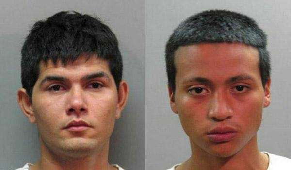 Mario Morales, 19, left, and William Nieto, 17,