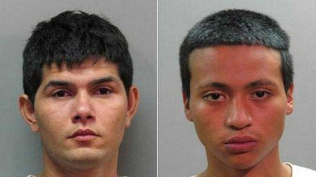 Mario Morales, 19, left, and William Nieto, 17,