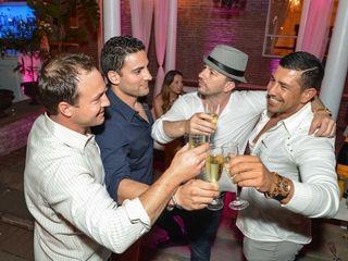 Bottle service buddies Nore Cabarcas, Alfredo Hoka, Richie
