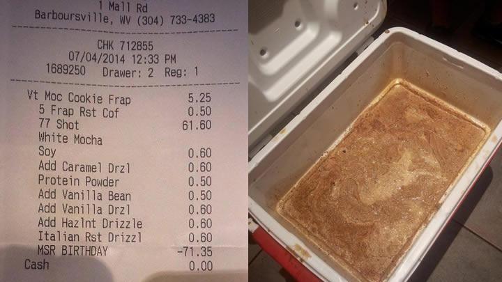 Jarrod Johnson orders most expensive Starbucks drink ever Newsday