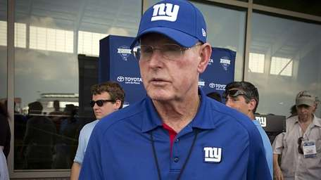 Giants head coach Tom Coughlin is seen after