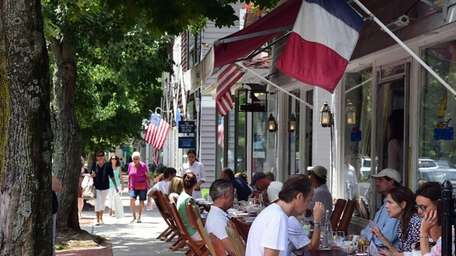 People lunch on July 17, 2014, at Pierre's