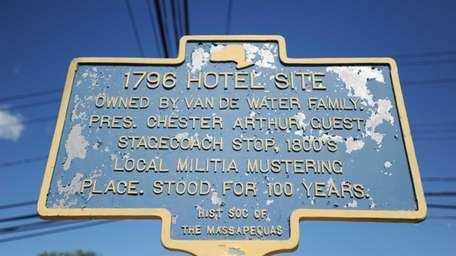The 1796 Hotel Site sign, as seen on