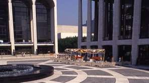 Big Bird in front of Lincoln Center from