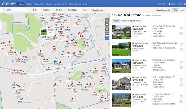 Zillow looks to acquire rival real estate website trulia for Zillow site