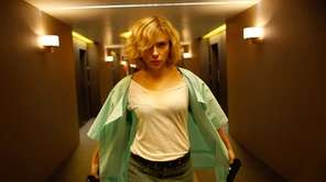 "Scarlett Johansson in a scene from ""Lucy."""