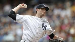 Yankees starting pitcher Brandon McCarthy in the first