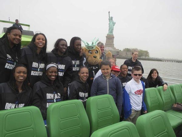 The New York Liberty WNBA team with Kidsday