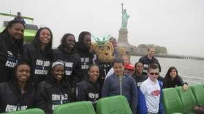 The New York Liberty WNBA team with Kidsday