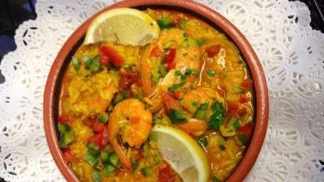 Shrimp and rice is one of the Portuguese