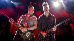 Guitarists Zacky Vengeance, left, and Synyster Gates of