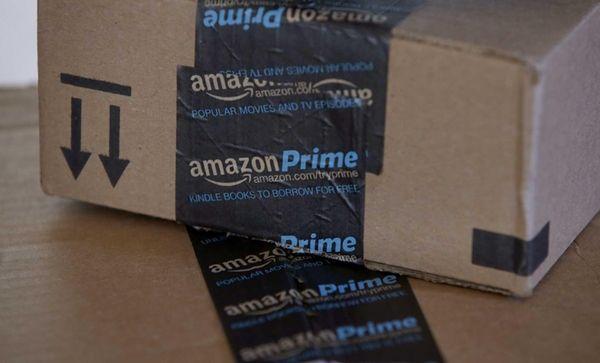 Amazon.com boxes in Phoenix on June 4, 2014.