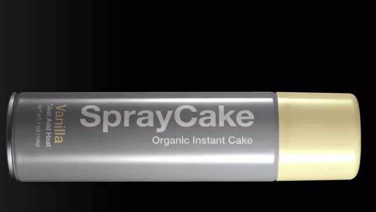 A can of Spray Cake.