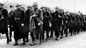In this March 1918 photo, American soldiers of