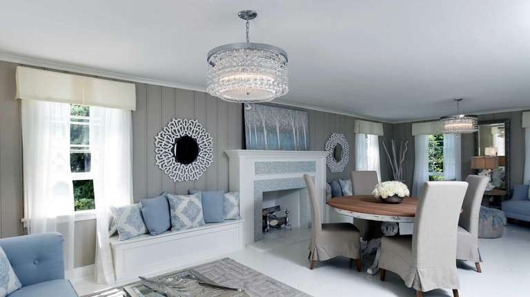 The living room designed by Morgan, Debbie and