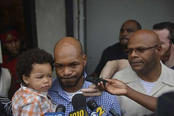 Jah-miel Cuffee seen with his son Mijahel, 21