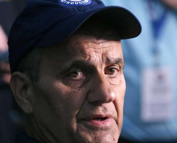 Former Major League Baseball manager Joe Torre speaks