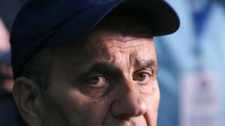 Former Major League Baseball manager Joe Torre speaks