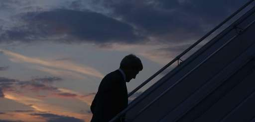 U.S. Secretary of State John Kerry boards his