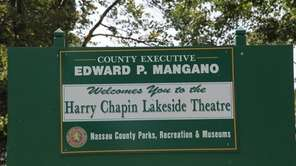 Signs display Nassau County Executive Edward Mangano's name