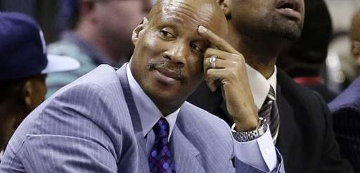 Then-Cleveland Cavaliers coach Byron Scott watches a game