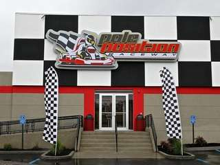A new, indoor, electric go-kart racing venue called