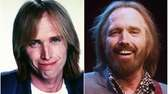 Musician Tom Petty in 1989, left, and performing