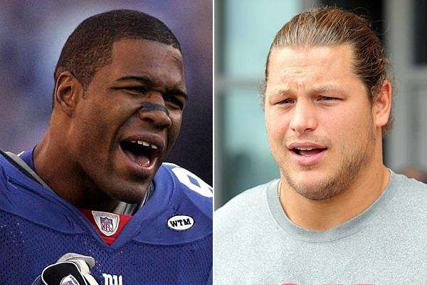 Michael Strahan and Markus Kuhn are seen in