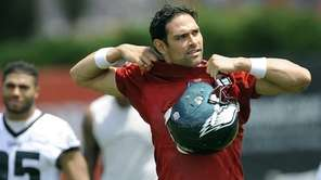 The Philadelphia Eagles' Mark Sanchez leaves the field