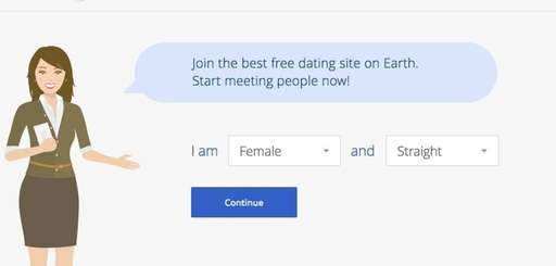 A screenshot of the OKCupid website.