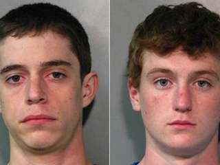 Brett Harrison, 21, of 358 Talmadge Rd., left,